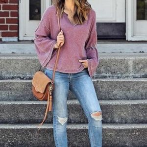 We the Free | Dahlia Washed Mauve Thermal Top